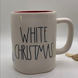 Rae Dunn White Christmas Mug With Snowflake